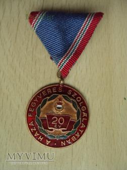 Medal: A haza fegyveres szolgálatában 20 év