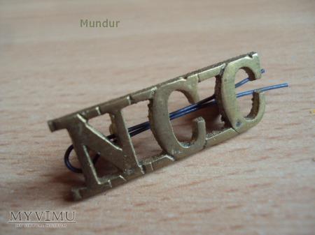 Indyjska odznaka NCC na naramienniki