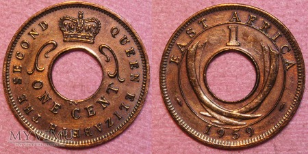 Afryka, 1 cent 1959