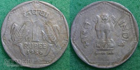 Indie, 1 rupia 1986