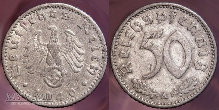 Niemcy, 1940, 50 REICHSPFENNIG
