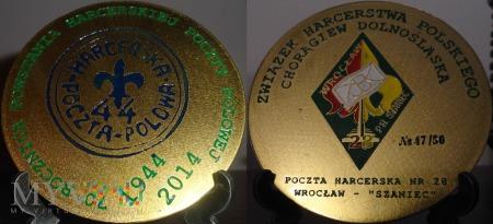 Duże zdjęcie 210. 70 lat Harcerskiej Poczty Polowej.Medal nr 47
