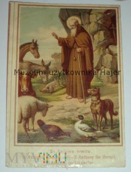 Duże zdjęcie Święty St. Antoine ermite - stary święty obrazek