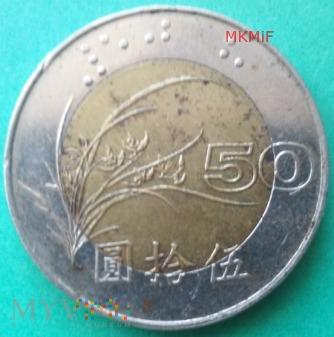 50 Yuan Tajwan