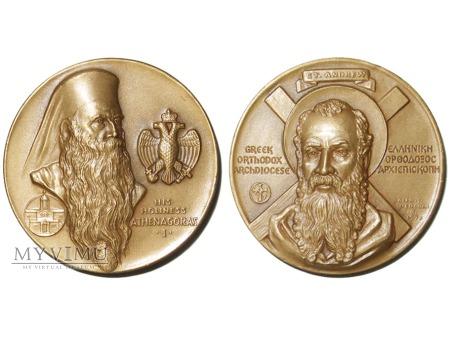 Patriarcha Athenagoras I medal brązowy 1972