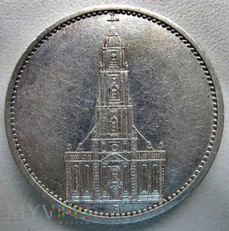 Duże zdjęcie 5 reichsmarek 1935 r. Niemcy (Trzecia Rzesza)