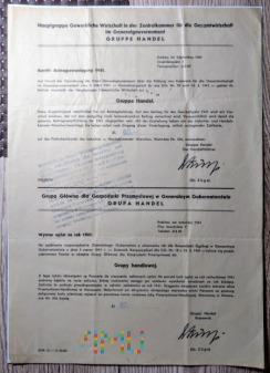 Grupa handlowa 1941 rok