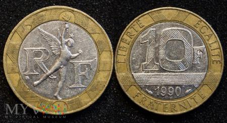 Duże zdjęcie Francja, 10 Francs 1990