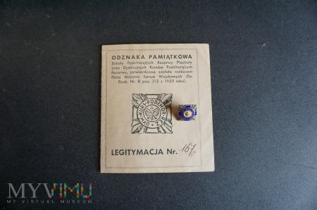 Legitymacja Odznaki Pamiątkowej Dyw.Kurs.Pod.Rez.