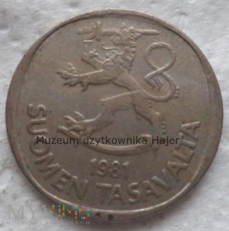 Finlandia - 1 marka - 1981 rok