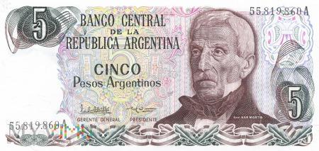 Argentyna - 5 pesos (1984)