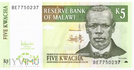 Malawi - 5 kwacha (2005)