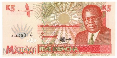 Malawi - 5 kwacha (1995)