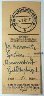 Dowód wpłaty, przelewu Berlin - Charlottenburg 42