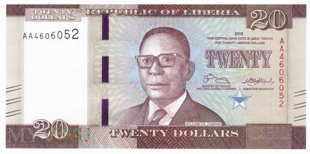 Liberia - 20 dolarów (2016)