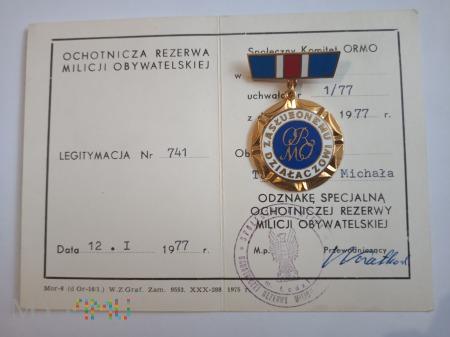 Specjalna Odznaka ORMO