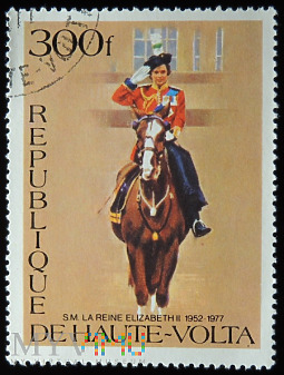Górna Wolta 300f Elżbieta II