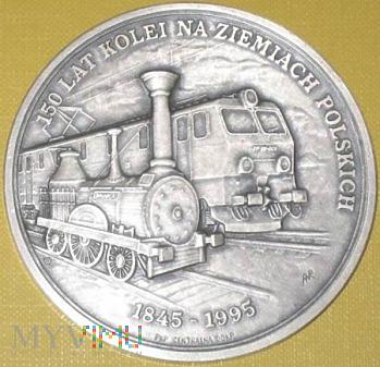 Medal rocznicy 150 lat kolei na ziemiach polskich