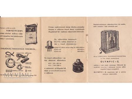 Reklama radioodbiorników-Wasilków 1935.