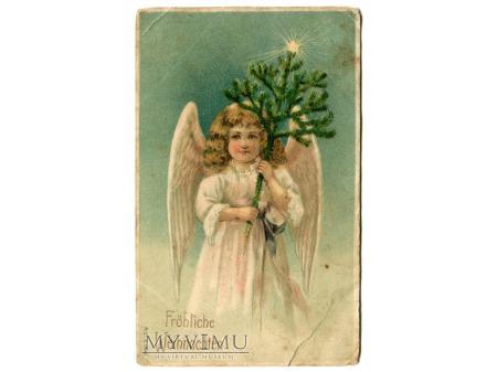 Aniołek Święta Choinka 1910 Anioł Boże Narodzenie