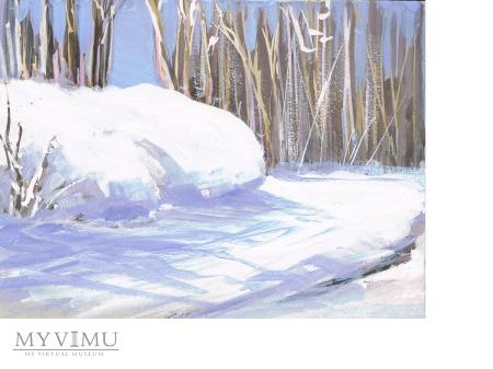 Duże zdjęcie Miniatura - Pejzaż zimowy