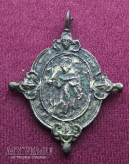 Stary medalik z MB Różańcową nr.3