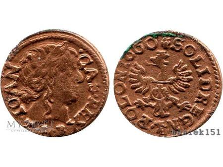 szeląg koronny 1660 13