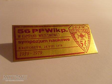 Odznaka z sympozjum naukowego - 56 P.P.Wlkp.