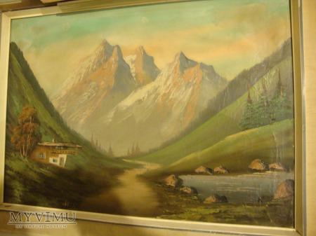 pejzaż górski - obraz olejny