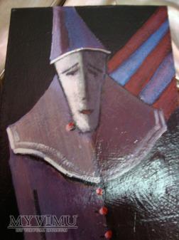 Pierrot miniatura 10x15 Cezary Garbowicz