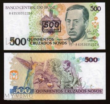 Brasil - P 226b - 500 Cruzeiros/Novos - 1991