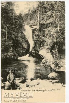 Karkonosze - Wodospad Szklarki Kochelfall - 1904