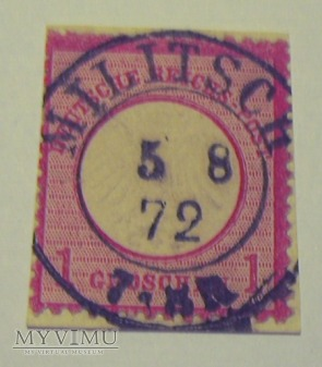 1 grosz duża tarcza Militsch 1872 r.