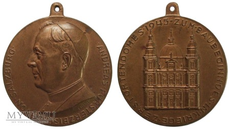 Duże zdjęcie Arcybiskup Andreas Rohracher, Salzburg medal 1945