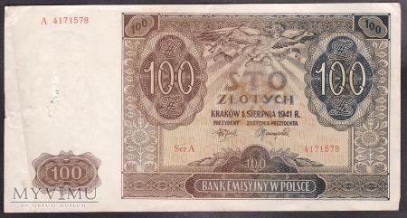 100 zł 1941r.
