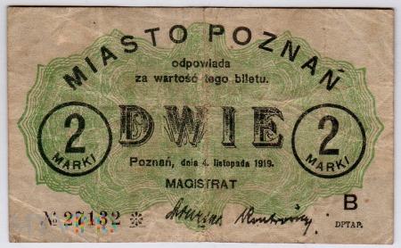 04.11.1919 - 2 Marki - Poznań -seria B