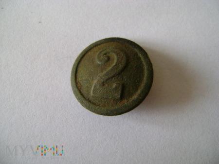 Duże zdjęcie pruski guzik kompanijny nr 2