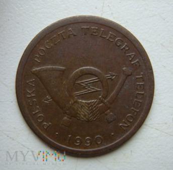 Żeton telefoniczny typu A, rok 1990, Kremnica