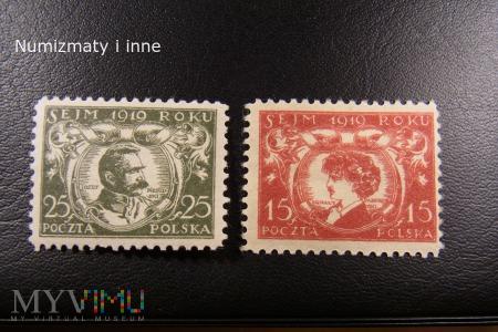 Duże zdjęcie znaczki Sejm 1919 roku II.