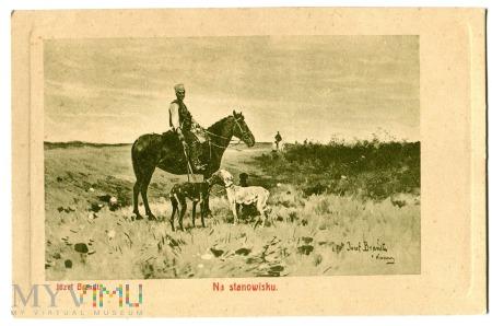 Duże zdjęcie Na stanowisku, Józef Brandt, c. 1910