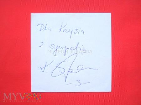 Krzysztof Stelmach - autograf