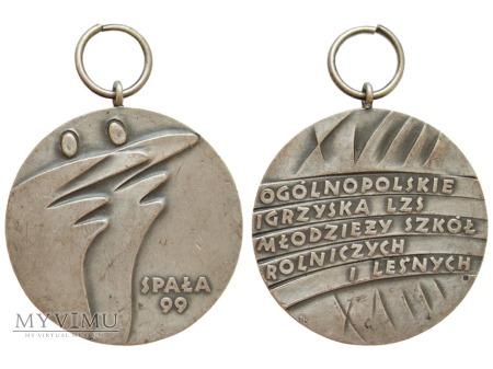 XVIII Ogólnopolskie Igrzyska LZS Spała medal 1999