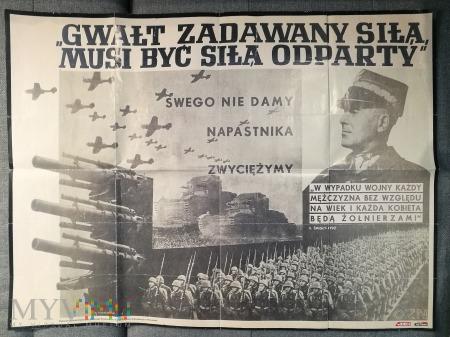 Duże zdjęcie Mapa Samochodowa 1939 rok i afisz propagandowy