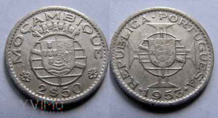 Mozambik, 2,5 Escudo 1953