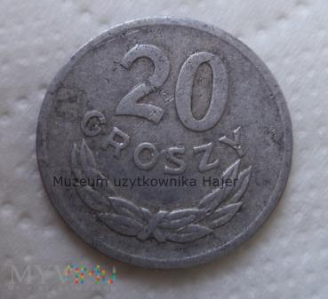 1969 rok - 20 groszy - aluminium - PRL