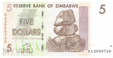 Zimbabwe - 5 dolarów (2007)