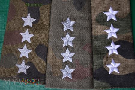 Pochewki z oznakami stopnia - kapitan SG