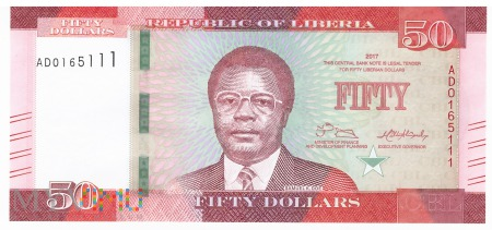 Liberia - 50 dolarów (2017)