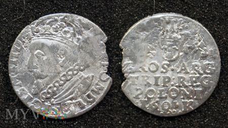 1601, trojak Zygmunta III Wazy