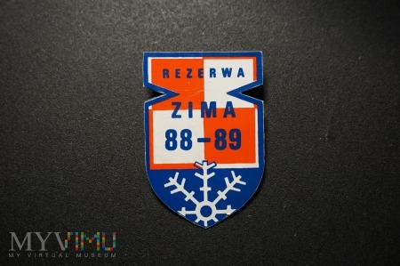 Pamiątkowa Odznaka Rezerwy 2 PLM Zima 88-89